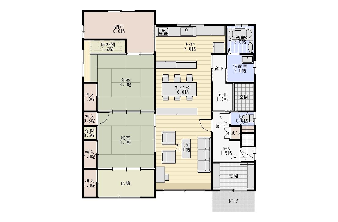 和室二間続き(2)5LDK 2階建て